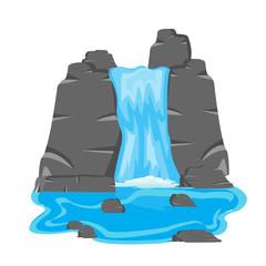 Waterfall amongst stone