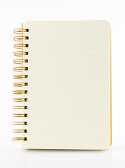 Line paper notebook isolated on white background