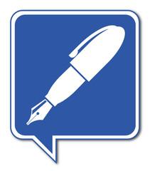 Logo stylo plume.
