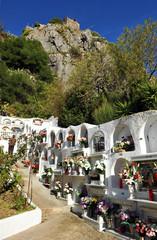 Cementerio, día de difuntos, Gaucín, España