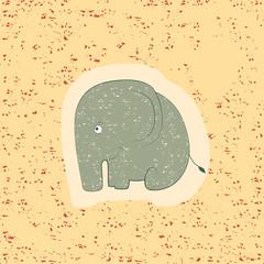 Children print. Funny elephant.