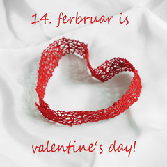 Herzförmige Schleife - Valentinstag