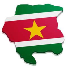 Map Suriname