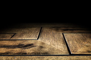 zigzag Plank wood floor texture background for display your prod