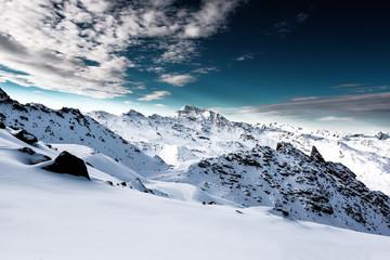 Alps, France, ski resort of Val Thorens