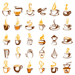 Collection of coffee icon