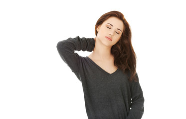 Female with neck pain