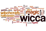 Wicca word cloud poster