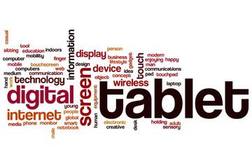 Tablet word cloud