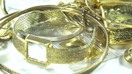 Old Jewelry (Gold and Silver, Dolly Shot)