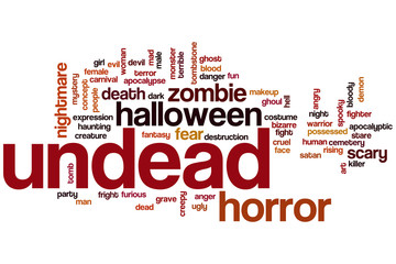 Undead word cloud