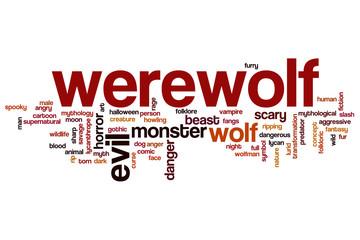 Werewolf word cloud