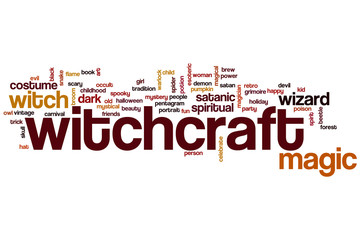 Witchcraft word cloud
