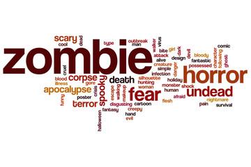 Zombie word cloud