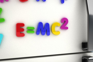 Mass - energy equivalence fridge magnets
