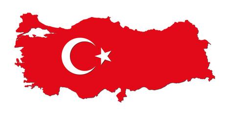 Turkey map vector.