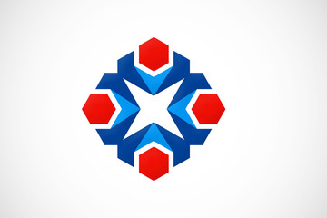 abstract geometry logo