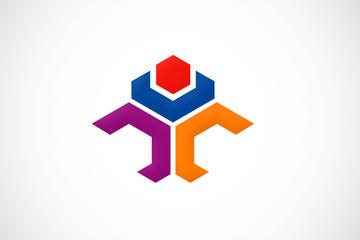 polygon identity logo vector