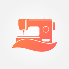 Sewing Machine Logo - vector symbol
