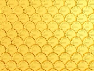 Wand aus goldenen Euro-Münzen