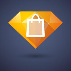 Diamond icon with a shopping bag