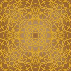 Brown fine patterned tile in art deco design