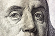 canvas print picture - dollars detail