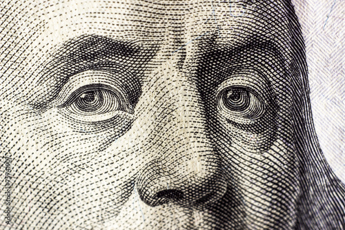 canvas print picture dollars detail