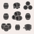 Barrels set. Vector - 75742942