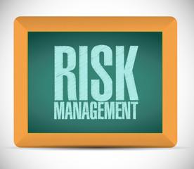 risk management board sign illustration