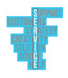 service business word selection illustration