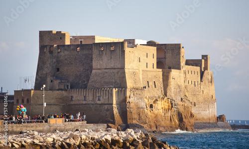 Fotobehang Napels Castel dell'Ovo in Naples