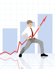 Businessman with graph