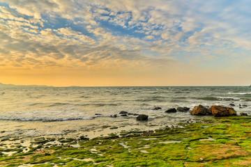Coastline Beach Sunset