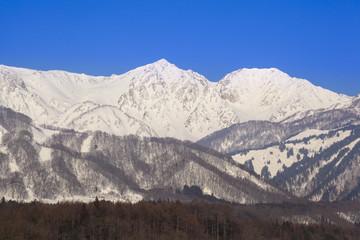 Hakuba village in winter, Nagano, Japan