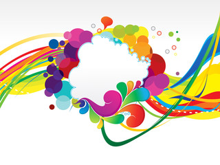 abstract colorful rainbow explode background