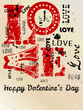 Valentine's day - Heart and love illustration free copy space, v