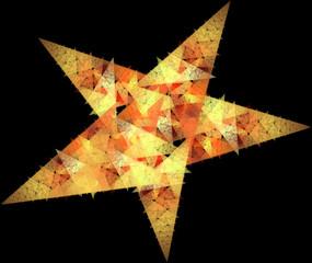 fractal star on a black background