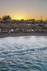 Sunrise over a beach