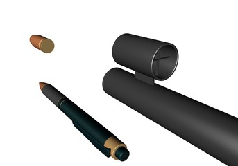 Pen versus kogel