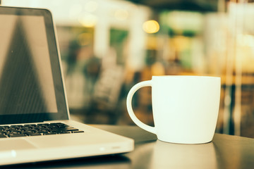 Laptop coffee cup