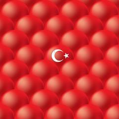 İllüstrasyon; Arka Plan / Doku / Türk Bayrağı