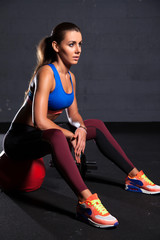beautiful woman at the gym
