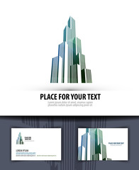 city. logo, icon, emblem, template, business card
