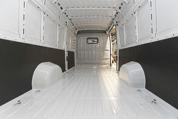 Empty delivery van