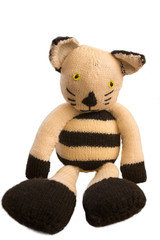 Knitted toy cat