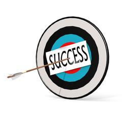 Arrow, success and board