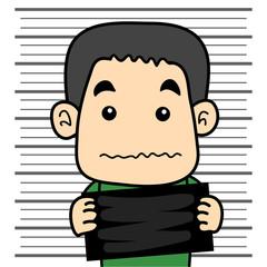 male prisoner mugshot