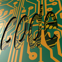 PCB and code word