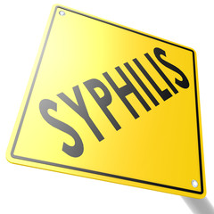 Road sign with syphilis